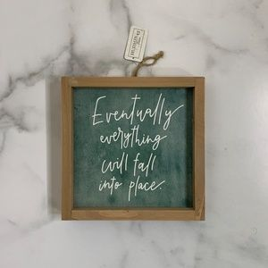 NEW Trendy square motivational quote wall decor